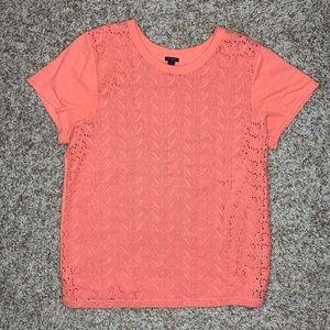 J. Crew Tops - J. Crew Paisley Lace Eyelet Short Sleeve T-Shirt